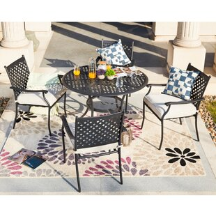 Shipp 5 Piece Dining Set with Cushions