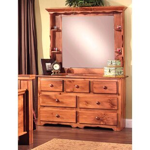 Chelsea Home Furniture Clinton 7 Drawer Dresser with Mirror