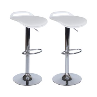 Paton Height Adjustable Swivel Bar Stool (Set Of 2) By 17 Stories