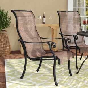 Germano Stacking Patio Dining Chair (Set of 2)