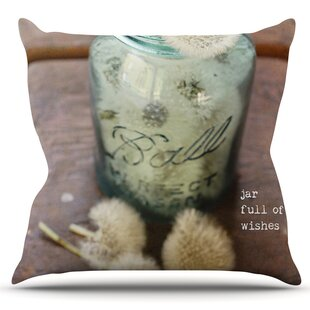 Jar Of Wishes By Debbra Obertanec Outdoor Throw Pillow by East Urban Home