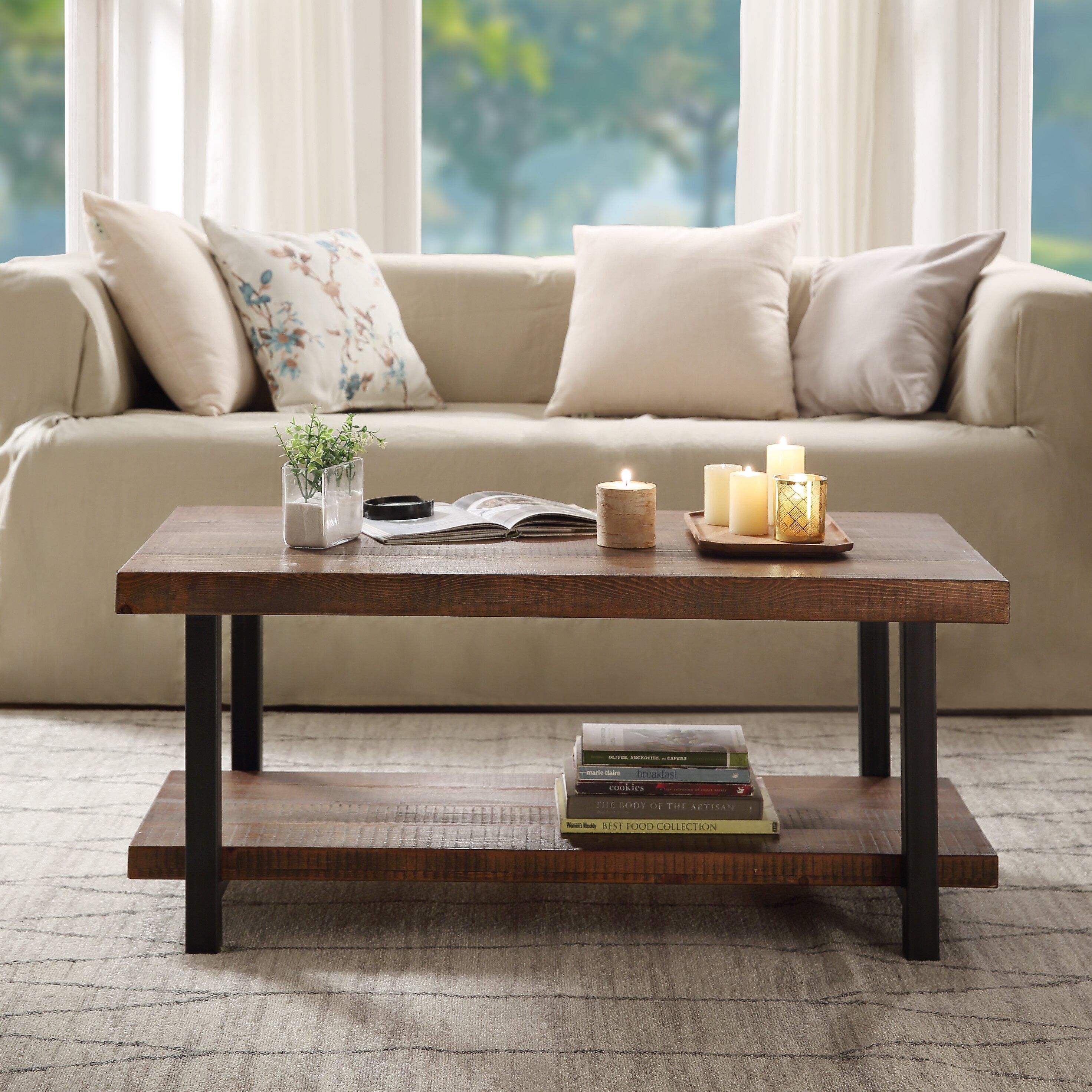 Millwood Pines Elrosa Coffee Table With Storage Wayfair