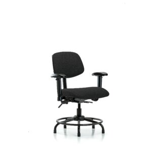 Georgia Round Tube Base Desk Height Ergonomic Office Chair By Symple Stuff
