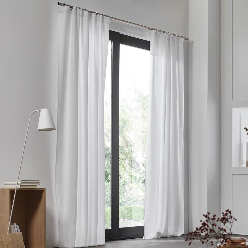 Madura Carlina Gathered Solid Room Darkening Single Curtain Panel Wayfair