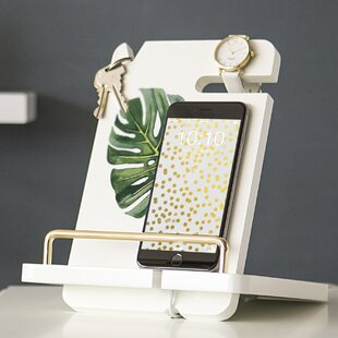 Ivy Bronx Francisco Palm Leaf Lacquer Docking Station