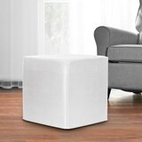 Contreras 17 Faux Leather Square Solid Color Ottoman by Latitude Run®