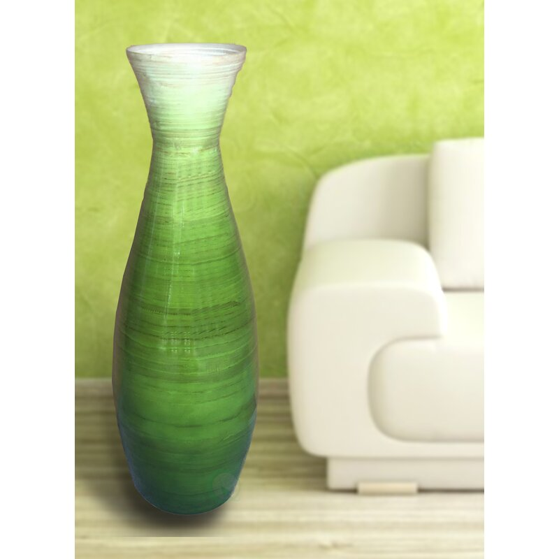 Bloomsbury Market Tall Trumpet Bamboo Floor Vase Reviews Wayfair