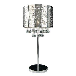 Loftis 1-Light Crystal 21 Table Lamp
