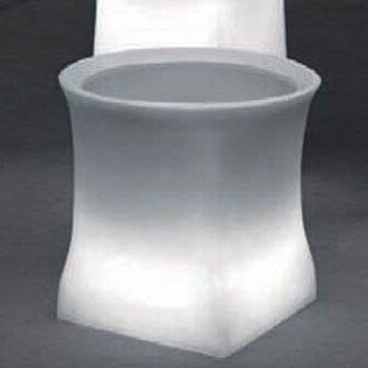 "100 Essentials Brightness Plastic Pot Planter  Color: Charcoal, Size: 15.75"" H x 20.87"" W x 20.87"" D"