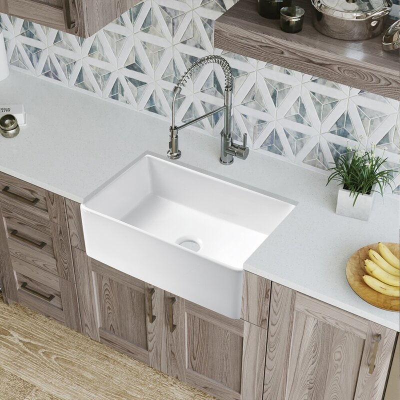 Watqen 30 L X 20 W Farmhouse Kitchen Sink Wayfair