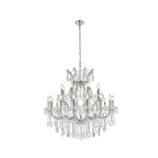 House of Hampton Regina Traditional 24-Light Chain Candle Style Chandelier