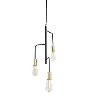 Wrought Studio Cadiz 3-Light Sputnik Chandelier