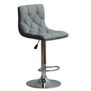 Silvester Adjustable Height Swivel Bar Stool Orren Ellis