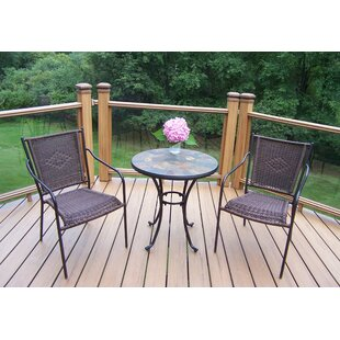 Oakland Living Stone Art 3 Piece Bistro Set