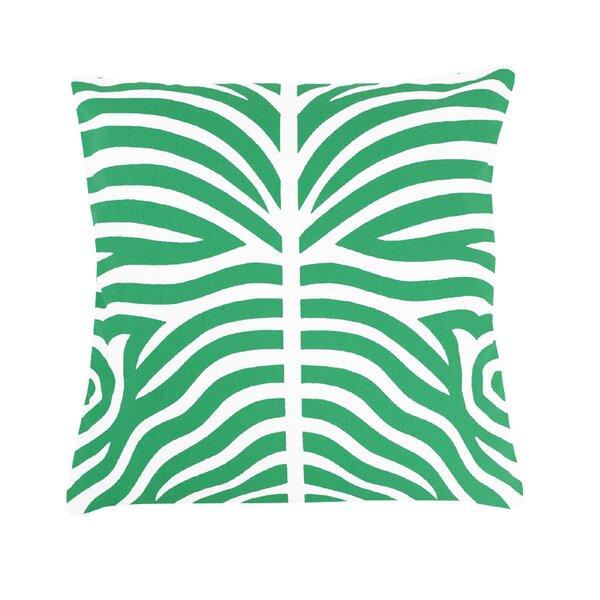 Brayden Studio Pena Zebra Striped 100 Cotton Throw Pillow