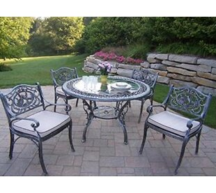 Oakland Living Hummingbird 5 Piece Dining Set with Cushions