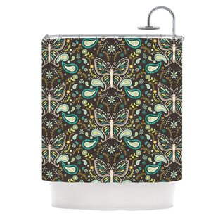 Butterfly Garden Single Shower Curtain
