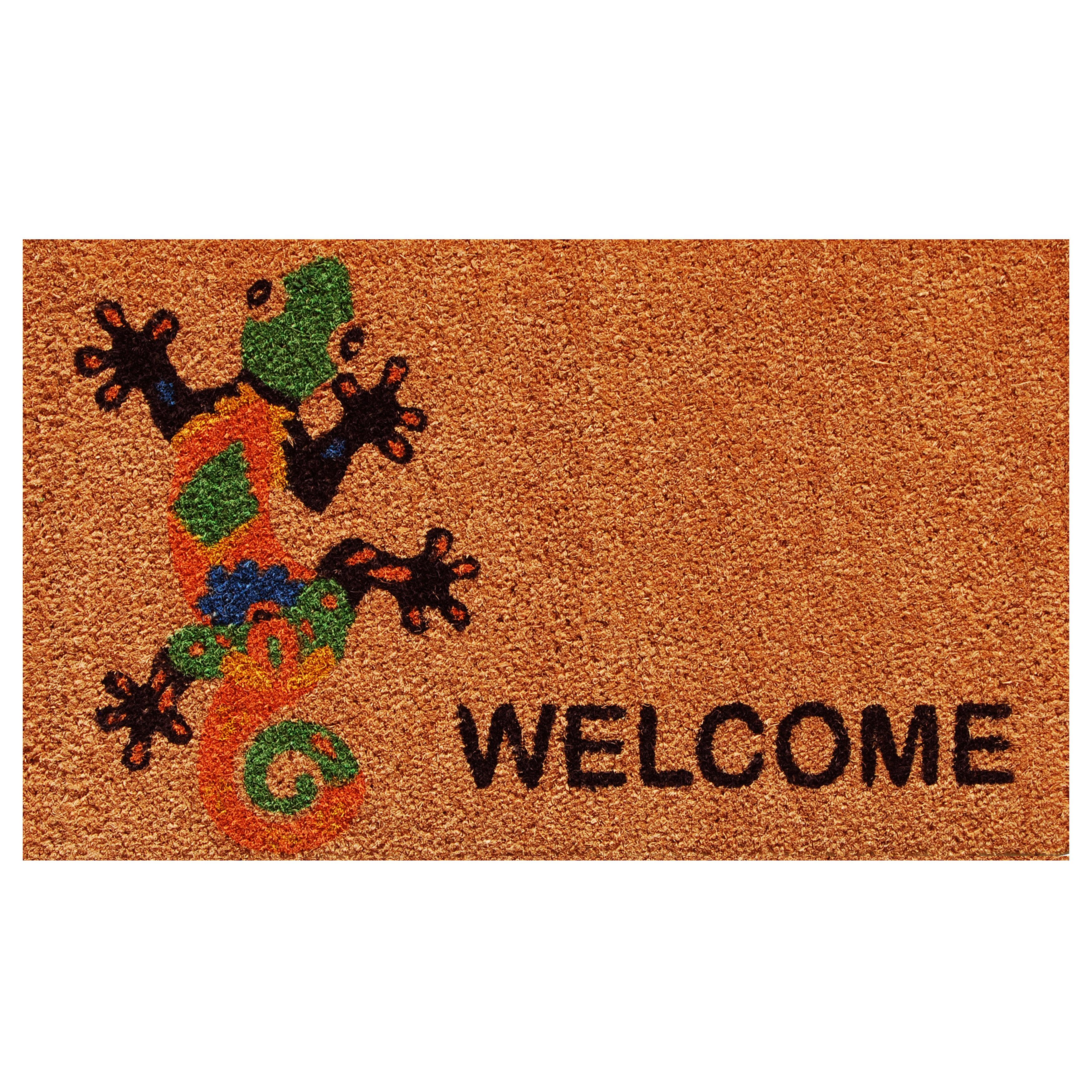 Home More Groovy Welcome 29 In X 17 In Non Slip Outdoor Door Mat Wayfair