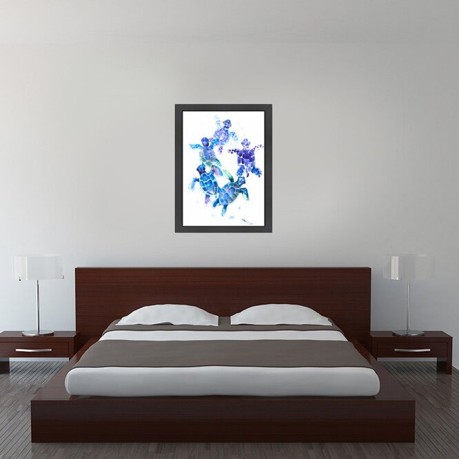 Sea Turtles Blue by Pop Monica - Graphic Art