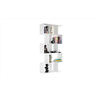 Bridport Z- Shelf Geometric Bookcase by Wrought Studio