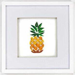 Pineapple Framed Wall Decor