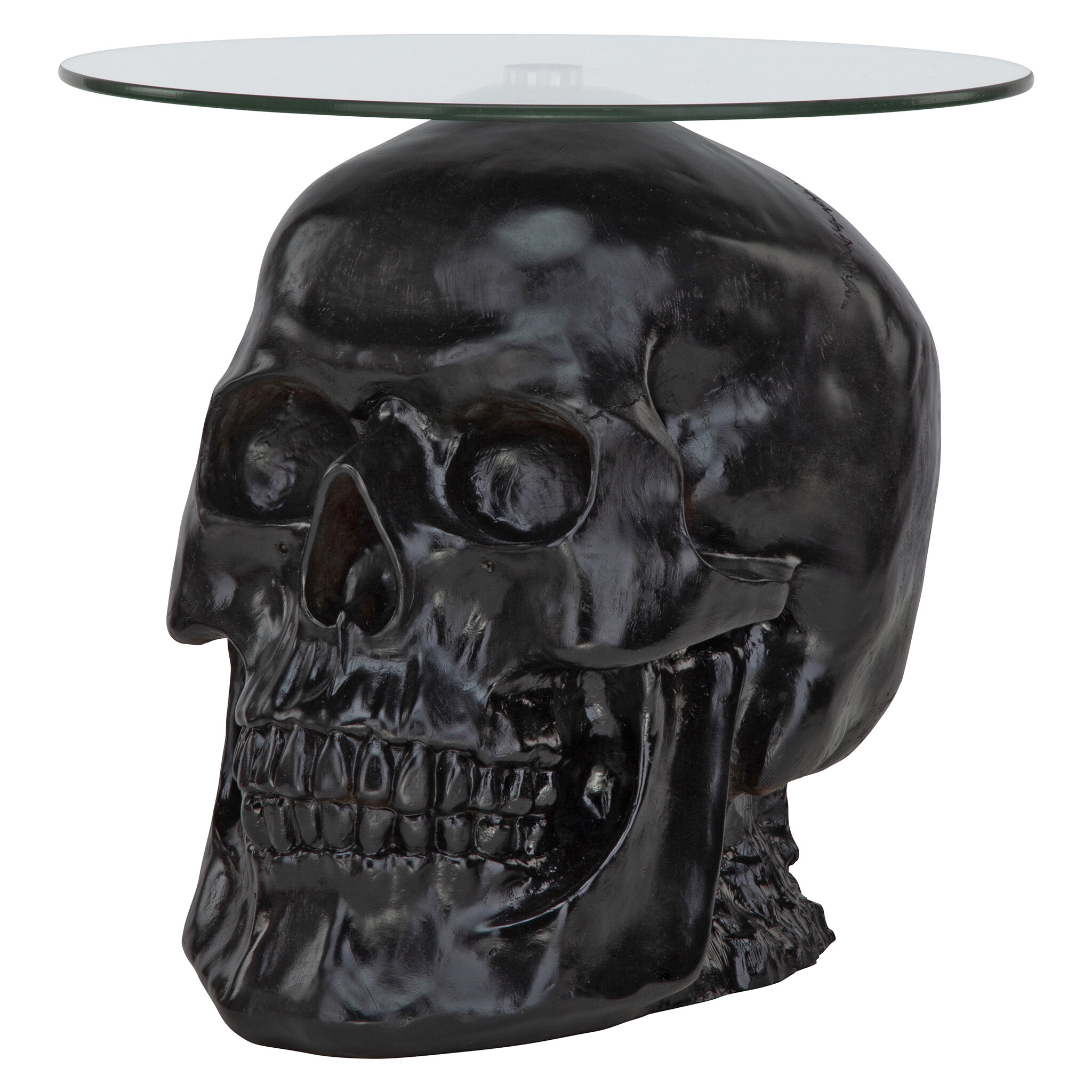 Admirable Lost Souls Gothic Skull Glass Topped End Table Gmtry Best Dining Table And Chair Ideas Images Gmtryco