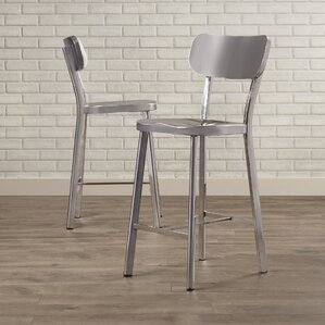 Rizzuto Stainless Steel Dining Chair (Set of 2) by Brayden Studio