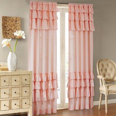 House of Hampton Gleason Solid Sheer Rod Pocket Single Curtain Panel ...