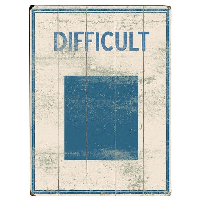 Artehouse Llc Difficult Graphic Art Multi Piece Image On Wood Wayfair