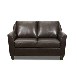 Basham Leather Loveseat
