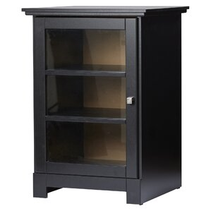 Clifton 1 Door Audio Tower in Black by Andover Mills