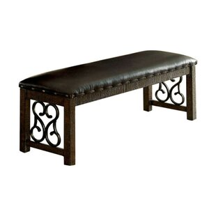 Fleur De Lis Living Costanzo Wooden Metal Bench