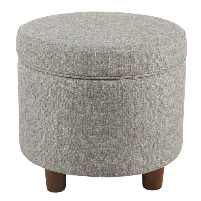 Stupendous Hilbert Round Storage Ottoman Caraccident5 Cool Chair Designs And Ideas Caraccident5Info