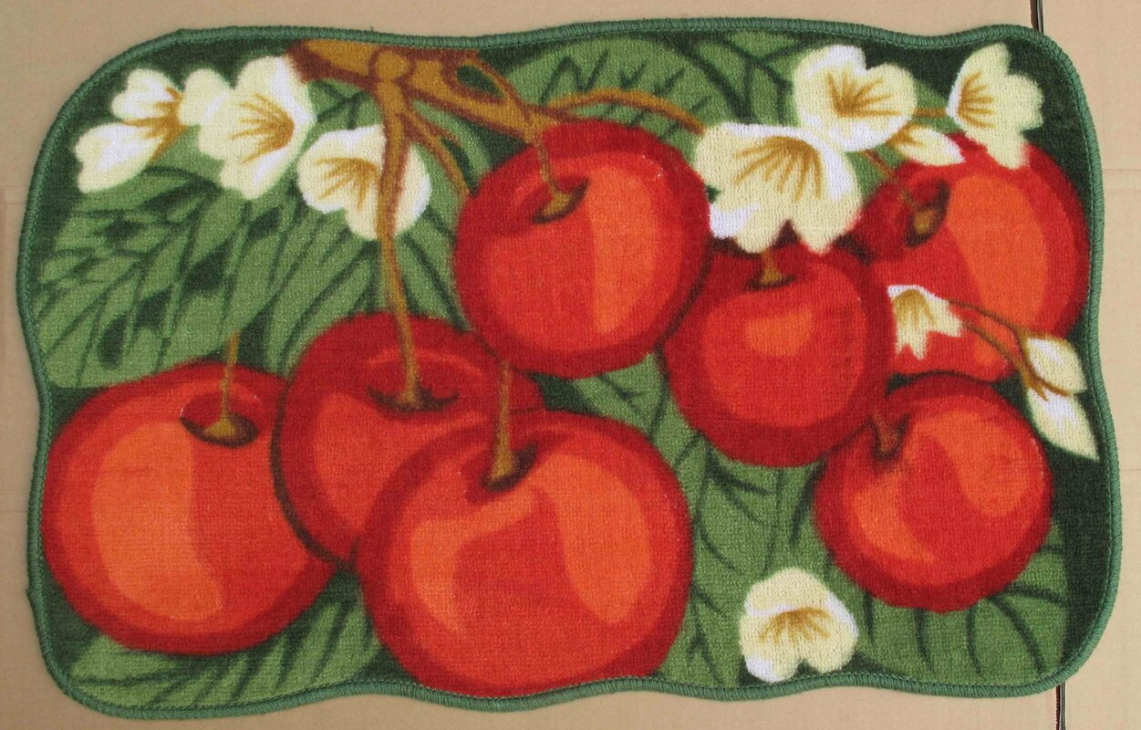 Red Cherry Kitchen Mat