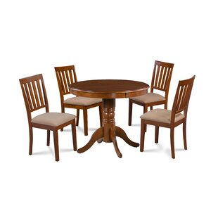 August Grove Dahlquist 5 Piece Solid Wood..