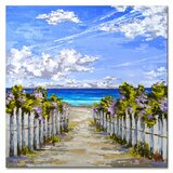 'Bougainvillea Access' - by Sarah LaPierre Wrapped Canvas Acrylic Painting Print