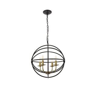Braiden 4-Light Globe Pendant by Wrought Studio