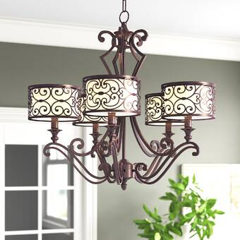 2nd Ave Design Estrella 6 Light Candle Style Wagon Wheel Chandelier Wayfair