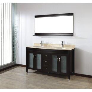 Alfa 63 Double Bathroom Vanity Set with Mirror by Bauhaus Bath