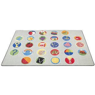 Affordable A-Z Activity Seating Gray Area Rug ByECR4kids
