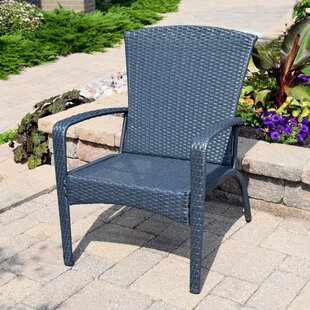 Truesdell Wicker Adirondack Chair by Breakwater Bay