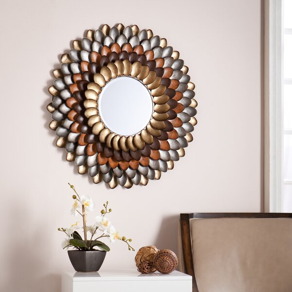 Round Wall Mirror red barrel studio decorative round wall mirror & reviews | wayfair