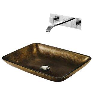 Best Reviews Copper Glass Circular Vessel Bathroom Sink with Faucet By VIGO