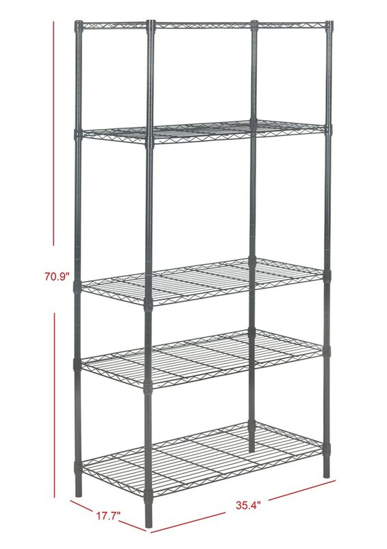 5 tier chrome wire shelving unit - Wire Shelving Units