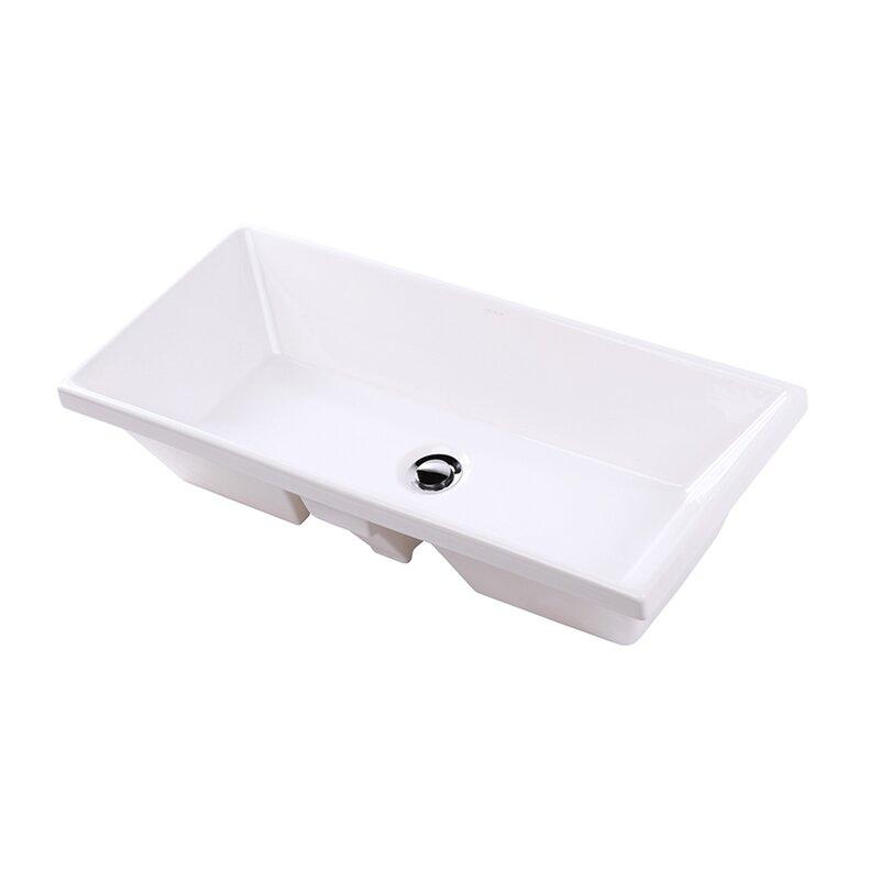 Lacava Aquasei White Rectangular Undermount Bathroom Sink With Overflow Perigold