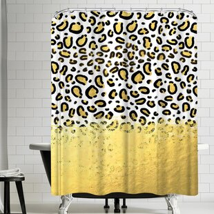 Modern Yellow Gold Shower Curtains