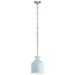 Clea 1-Light Jar Pendant by Highland Dunes