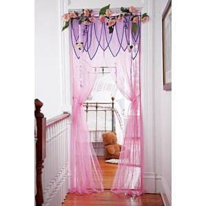 Rose Garden Door Canopy Single Curtain Panel