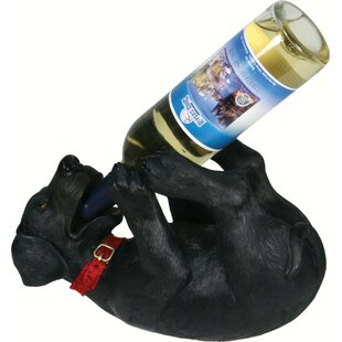 Seville Black Lab 1 Tabletop Wine Bottle ..