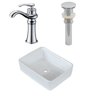 Compare & Buy Ceramic Rectangular Vessel Bathroom Sink with Faucet By American Imaginations